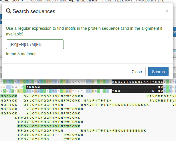 search sequences